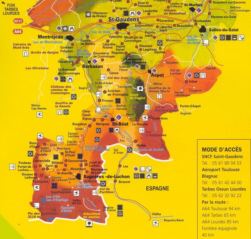 Carte touristique de haute garonne voyages cartes for 31 haute garonne carte